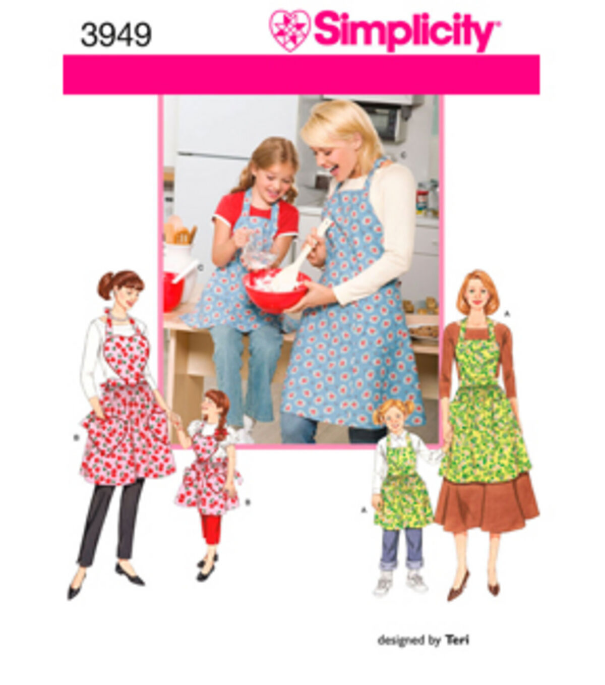 10 Things to Do with Vintage Aprons Simplicity Pattern 3949A S - M - L  S - - Simplicity Crafts $15.95 AT vintagedancer.com