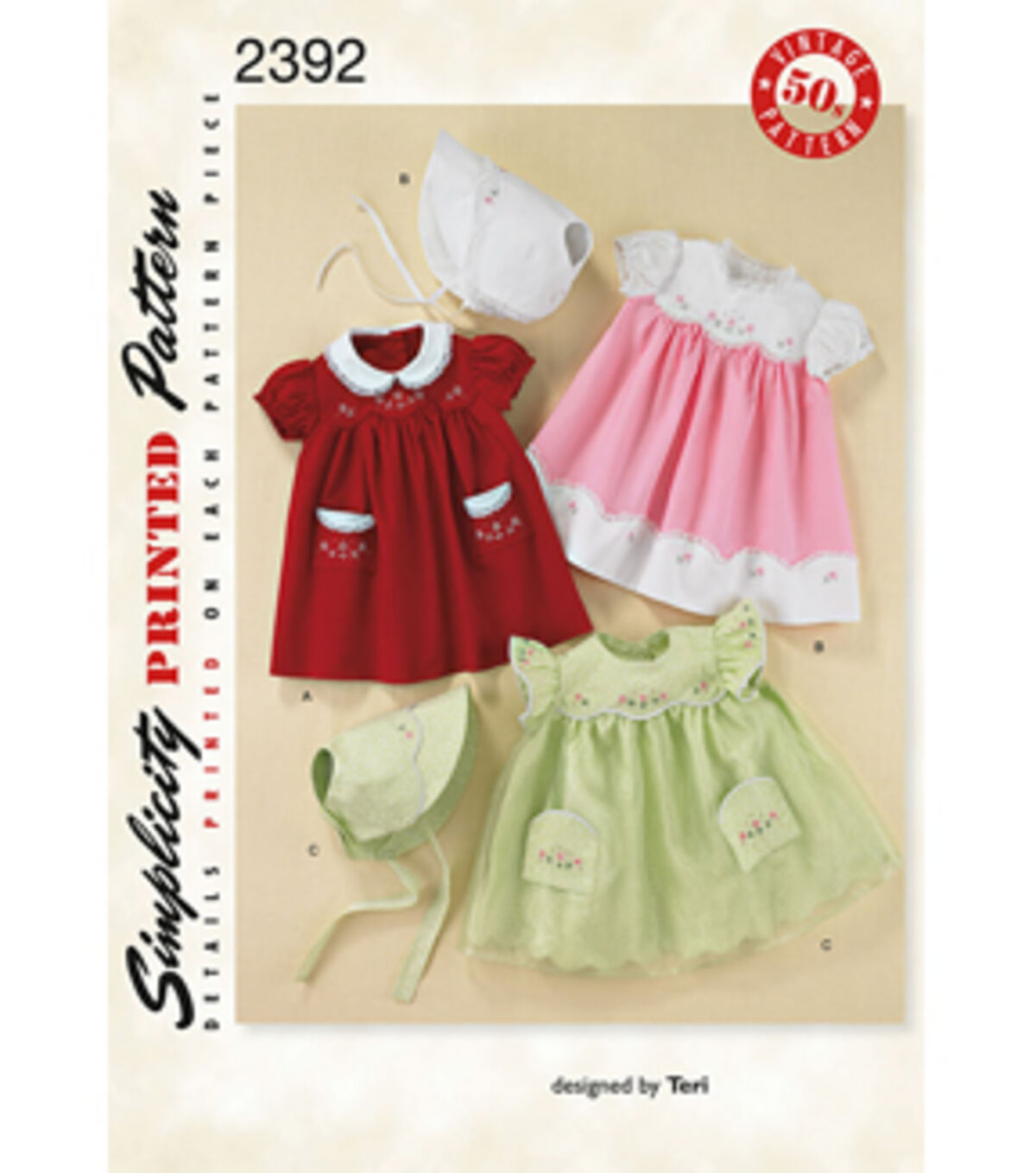 Kids 1950s Clothing & Costumes: Girls, Boys, Toddlers Simplicity Pattern 2392A Xs - S - M - L - Simplicity Crafts $16.95 AT vintagedancer.com