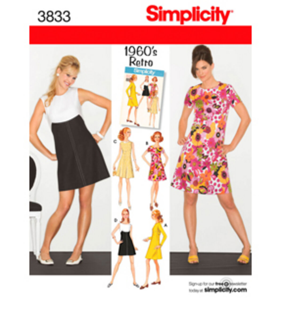 1960s – 70s Sewing Patterns- Dresses, Tops, Pants Simplicity Pattern 3833R5 14 16 18 2 - Simplicit $15.95 AT vintagedancer.com