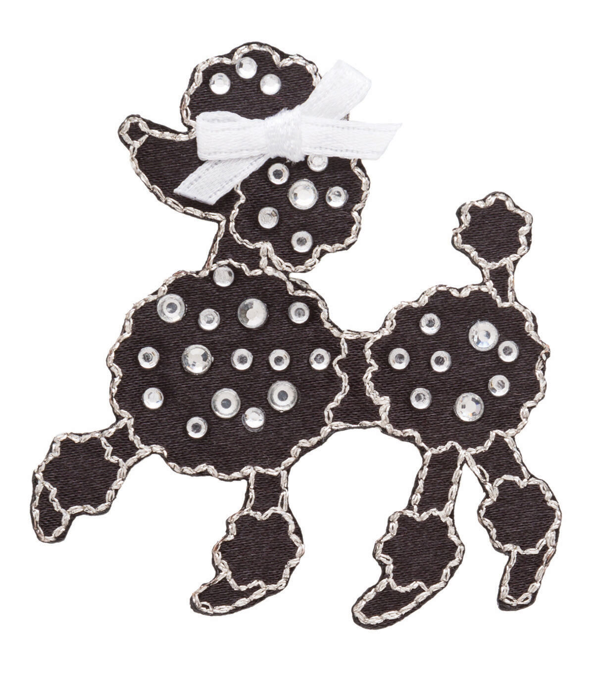 How to Dress for a 50s Sock Hop Simplicity Iron - On Applique - Jeweled Black Poodle WRhinestones $4.49 AT vintagedancer.com