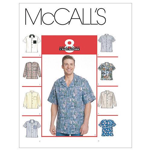 Men's Vintage Reproduction Sewing Patterns McCalls Mens Top - M2149 $7.77 AT vintagedancer.com