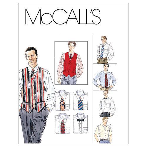 Steampunk Sewing Patterns- Dresses, Coats, Plus Sizes, Men's Patterns McCalls Mens Vest - M2447 $12.95 AT vintagedancer.com