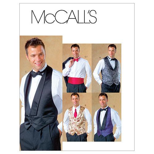 Men's Vintage Reproduction Sewing Patterns McCalls Mens Vest - M4321 $15.95 AT vintagedancer.com