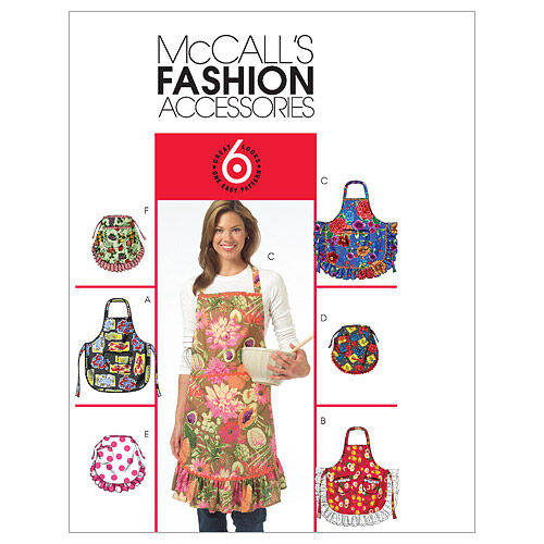 Vintage Aprons, Retro Aprons, Old Fashioned Aprons & Patterns McCalls Misses Aprons - M5284 $15.95 AT vintagedancer.com