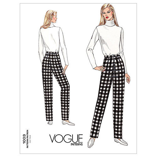 1960s – 70s Sewing Patterns- Dresses, Tops, Pants, Mens Vogue Patterns Misses Pants - V1003 $14.00 AT vintagedancer.com