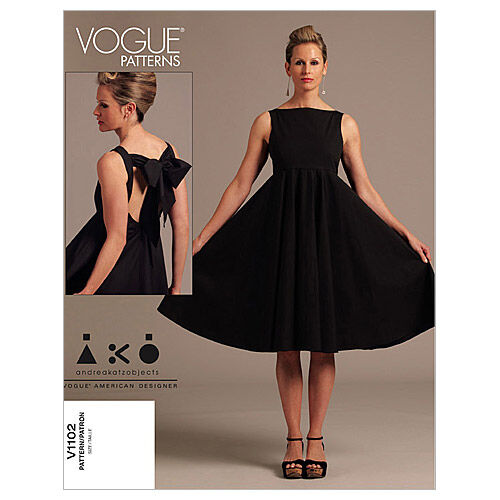 1960s – 70s Sewing Patterns- Dresses, Tops, Pants, Mens Vogue Patterns Misses Dress - V1102 $21.00 AT vintagedancer.com