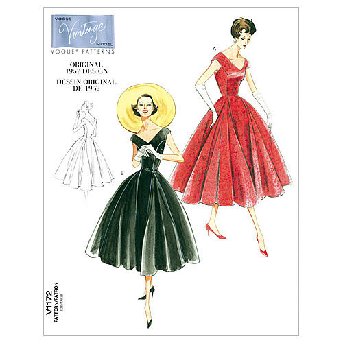 c6ae833628 1950s Sewing Patterns | Dresses, Skirts, Tops, Mens 1957 Vogue Patterns  Misses Dress