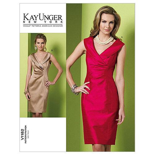 1960s – 70s Sewing Patterns- Dresses, Tops, Pants Vogue Patterns Misses Dress - V1182 $30.00 AT vintagedancer.com