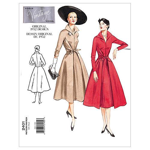1960s – 70s Sewing Patterns- Dresses, Tops, Pants, Mens Vogue Patterns Misses Dress - V2401 $17.50 AT vintagedancer.com