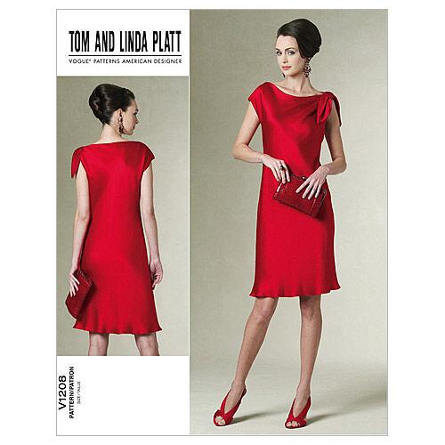 1960s – 70s Sewing Patterns- Dresses, Tops, Pants, Mens Vogue Patterns Misses Dress - V1208 $21.00 AT vintagedancer.com