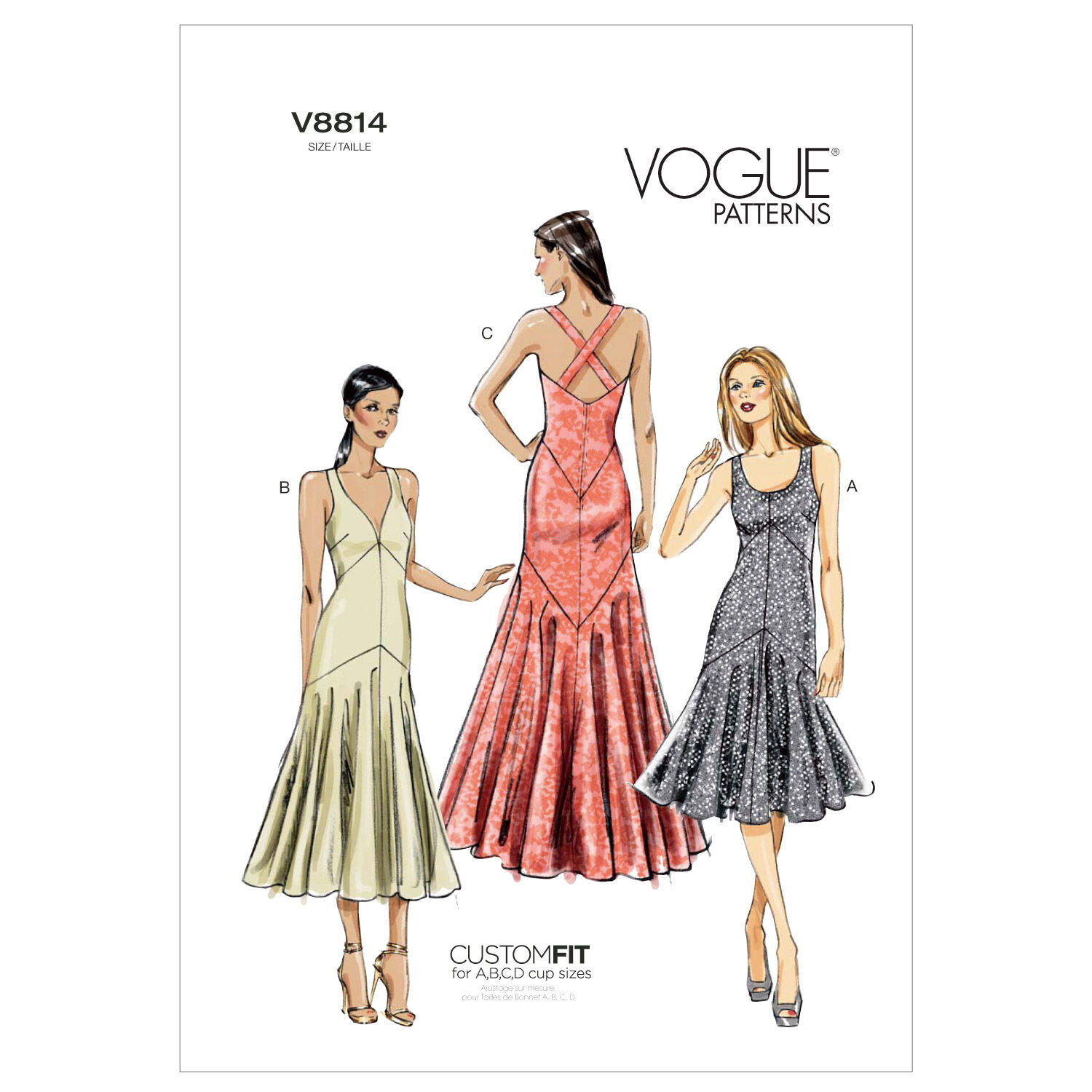 1930s Sewing Patterns- Dresses, Pants, Tops Vogue McCalls Pattern V8814 A5 6 - 8 - 10 - Vogue Pattern - Sewing Supplies - Patterns at JOANN $15.00 AT vintagedancer.com
