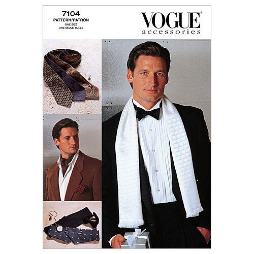Men's Vintage Reproduction Sewing Patterns Vogue Patterns Mens Accessories - V7104 $12.95 AT vintagedancer.com