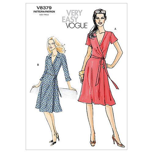 1960s – 70s Sewing Patterns- Dresses, Tops, Pants, Mens Vogue Patterns Misses Dress - V8379 $20.00 AT vintagedancer.com