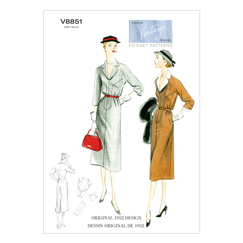 1950s Sewing Patterns | Swing and Wiggle Dresses, Skirts Mccall Pattern V8851 6 - 8 - 10 - 12 - - Vogue Pattern $27.50 AT vintagedancer.com