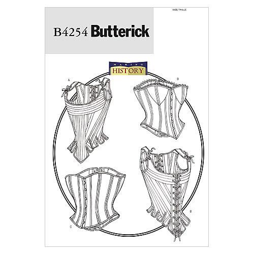 Steampunk Sewing Patterns- Dresses, Coats, Plus Sizes, Men's Patterns Butterick Misses Historical Costumes - B4254 $15.95 AT vintagedancer.com