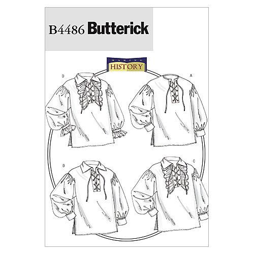 Steampunk Sewing Patterns- Dresses, Coats, Plus Sizes, Men's Patterns Butterick Pattern B4486 Adult Historical Costumes - Size XL - XXL - XXXL $15.95 AT vintagedancer.com