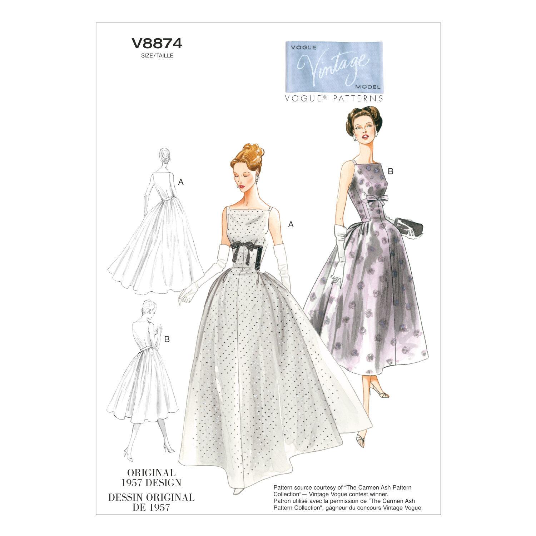 1950s Fabrics & Colors in Fashion 1957 Mccall Pattern V8874 14 - 16 - 18 - 2 - Vogue Pattern $30.00 AT vintagedancer.com