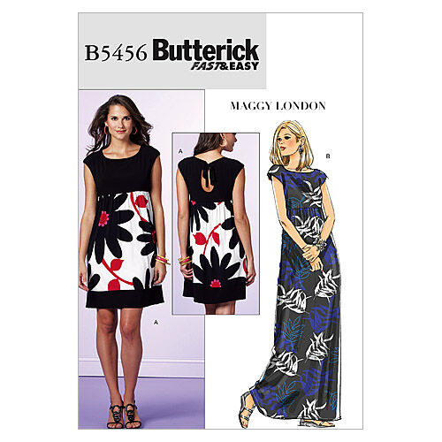 1960s – 70s Sewing Patterns- Dresses, Tops, Pants, Men's Butterick Misses Dress - B5456 $13.26 AT vintagedancer.com
