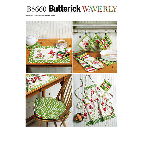 Vintage Aprons, Retro Aprons, Old Fashioned Aprons & Patterns Butterick Crafts Home Accessory - B5660 $19.95 AT vintagedancer.com