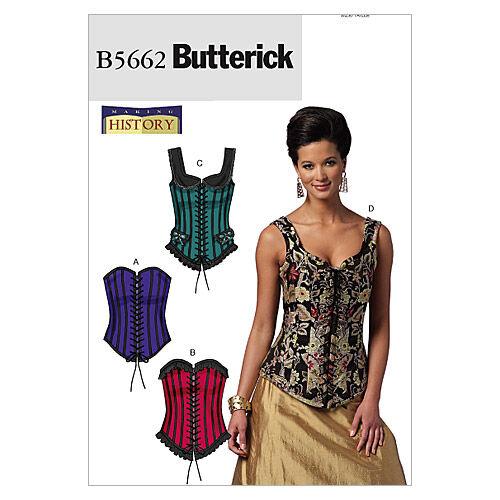 Steampunk Sewing Patterns- Dresses, Coats, Plus Sizes, Men's Patterns Butterick Misses Historical Costumes - B5662 $19.95 AT vintagedancer.com