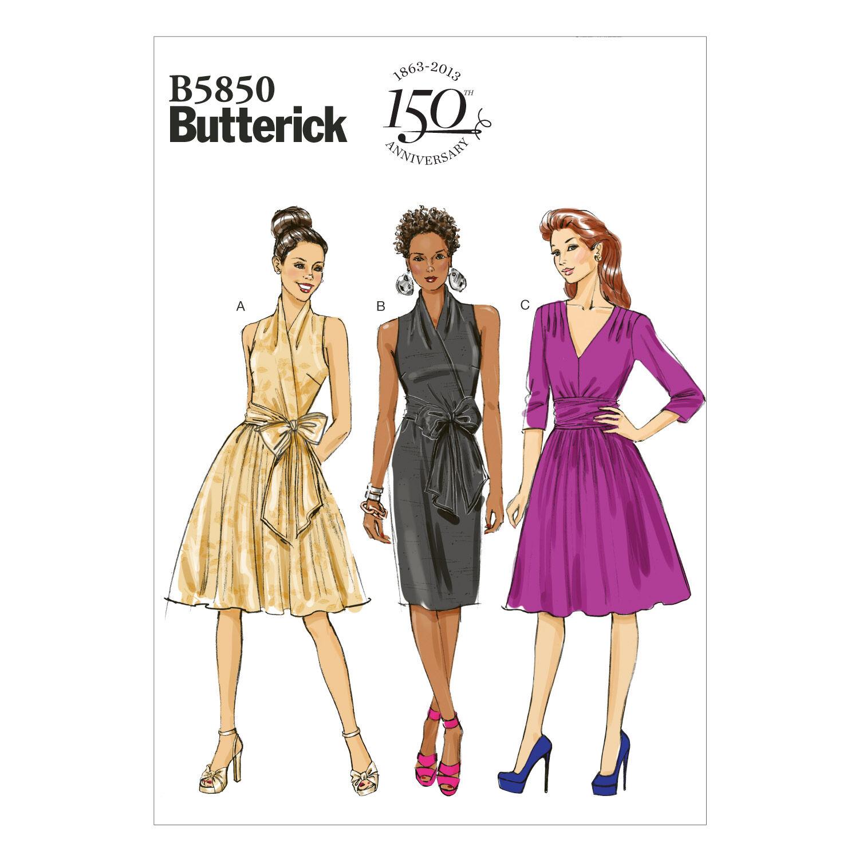 1960s – 70s Sewing Patterns- Dresses, Tops, Pants, Men's Butterick Misses Dress - B5850 $13.26 AT vintagedancer.com