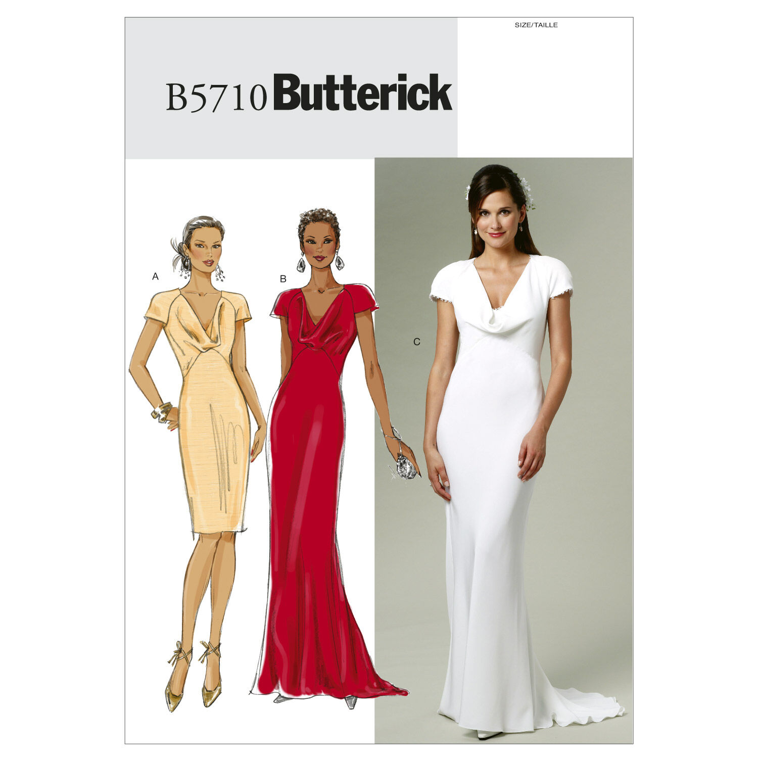1930s Sewing Patterns- Dresses, Pants, Tops Butterick Misses Special Occasion - B5710 $11.97 AT vintagedancer.com