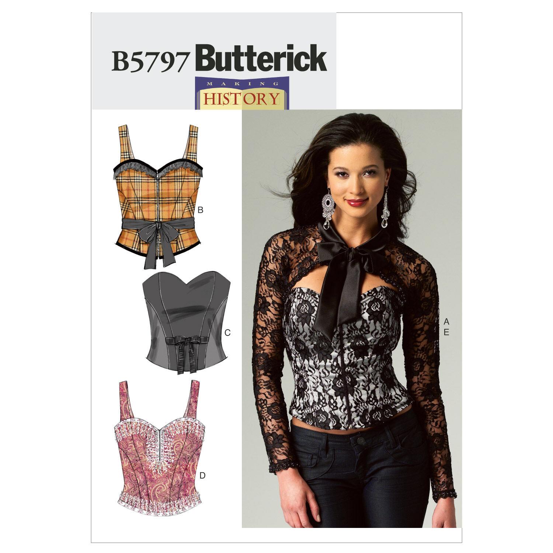 Steampunk Sewing Patterns- Dresses, Coats, Plus Sizes, Men's Patterns Butterick Misses Historical Costumes - B5797 $11.97 AT vintagedancer.com