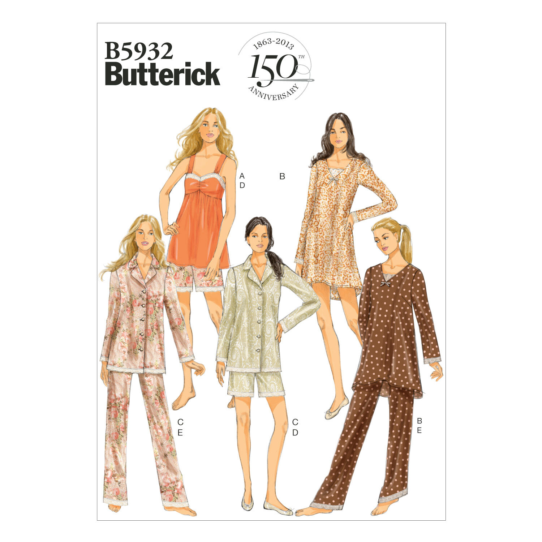 1960s – 70s Sewing Patterns- Dresses, Tops, Pants Mccall Pattern B5932 L - Xl - Xxl - Butterick Pattern $18.95 AT vintagedancer.com