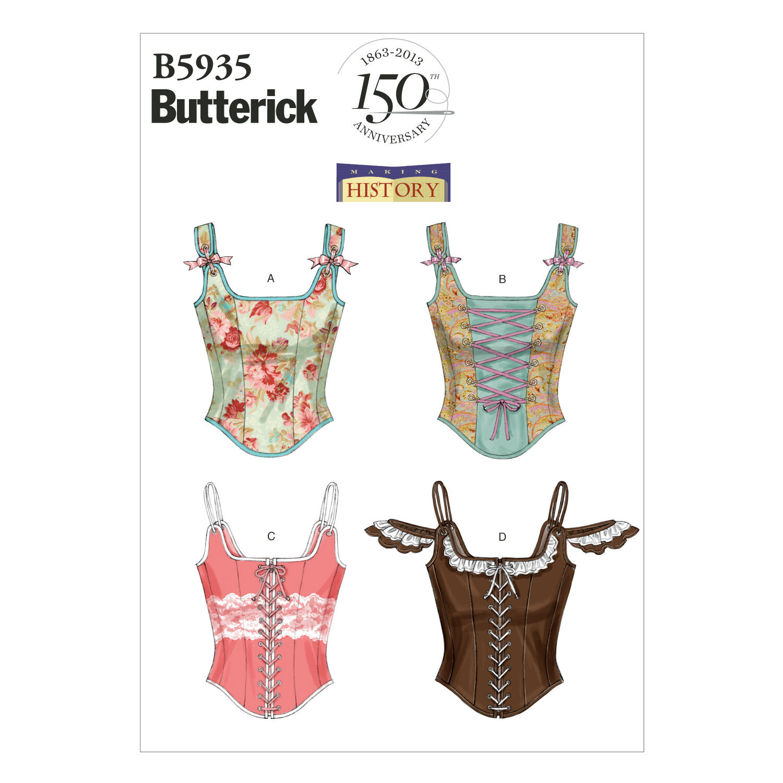 Steampunk Sewing Patterns- Dresses, Coats, Plus Sizes, Men's Patterns Butterick Misses Historical Costumes - B5935 $19.95 AT vintagedancer.com