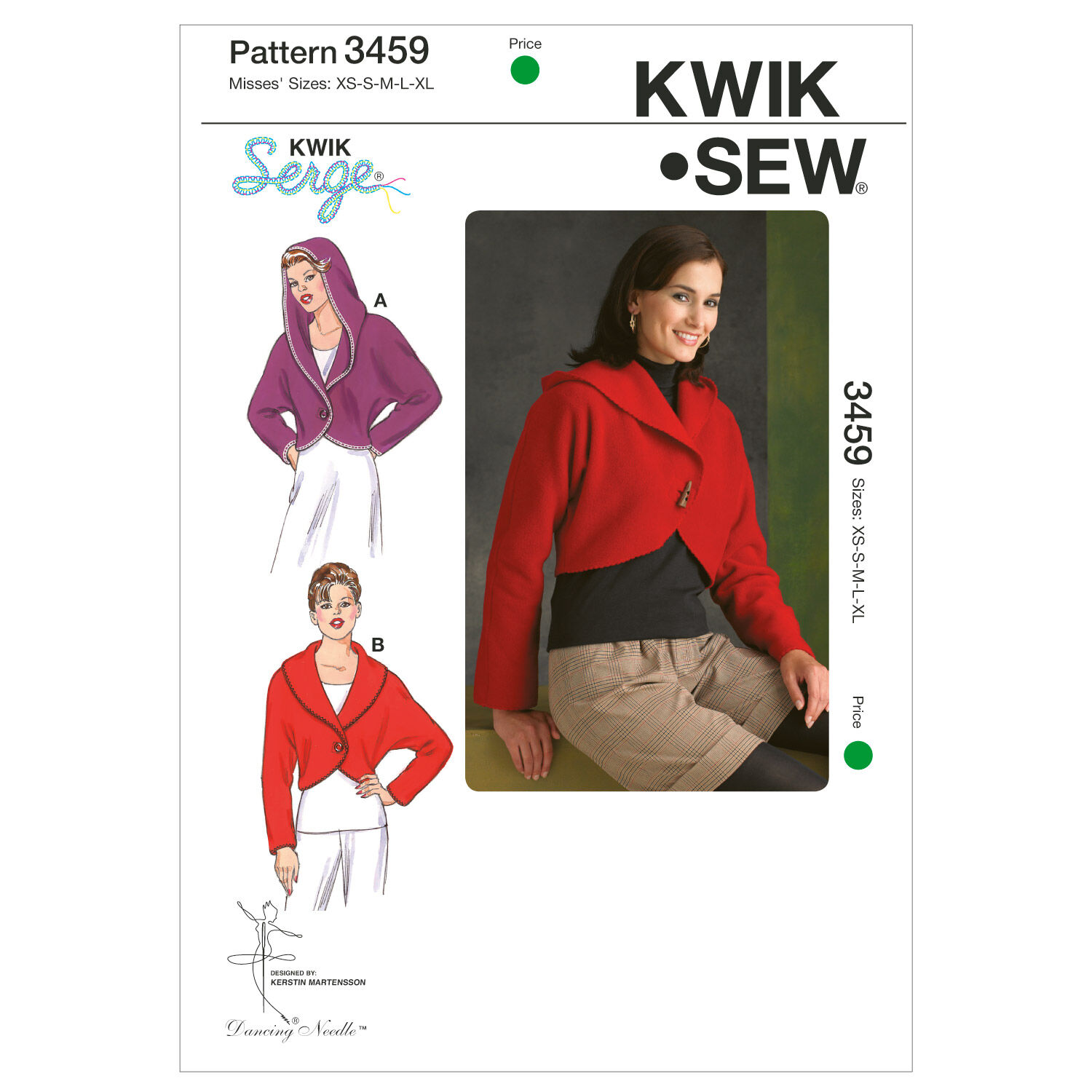 1950s Sewing Patterns | Dresses, Skirts, Tops, Mens Mccall Pattern K3459 Misses Xs - Kwik Sew Pattern $15.99 AT vintagedancer.com