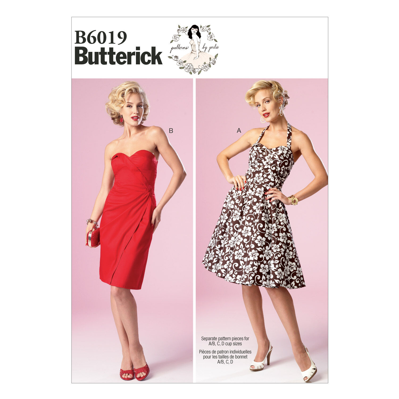 1950s Sewing Patterns | Dresses, Skirts, Tops, Mens Butterick Misses Dress - B6019 $13.96 AT vintagedancer.com