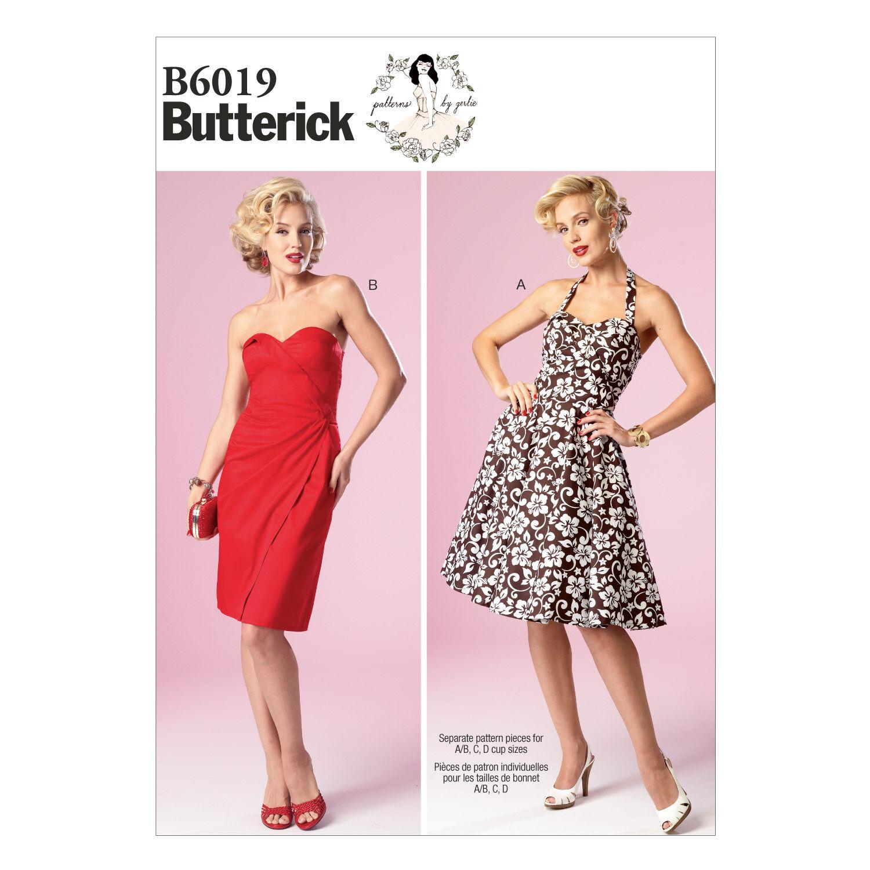 1960s – 70s Sewing Patterns- Dresses, Tops, Pants, Mens Butterick Misses Dress - B6019 $13.96 AT vintagedancer.com