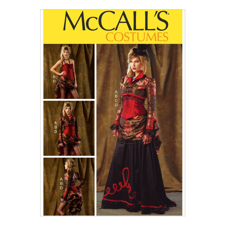 Steampunk Sewing Patterns- Dresses, Coats, Plus Sizes, Men's Patterns McCalls - Pattern M6911 - Bolero Corset Skirt and Pick - up Overskirt - All Sizes - Patterns - At JOANN Fabrics  Crafts $11.37 AT vintagedancer.com