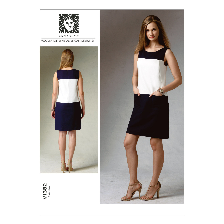 1960s – 70s Sewing Patterns- Dresses, Tops, Pants, Mens Vogue Patterns Misses Dress - V1382 $21.00 AT vintagedancer.com