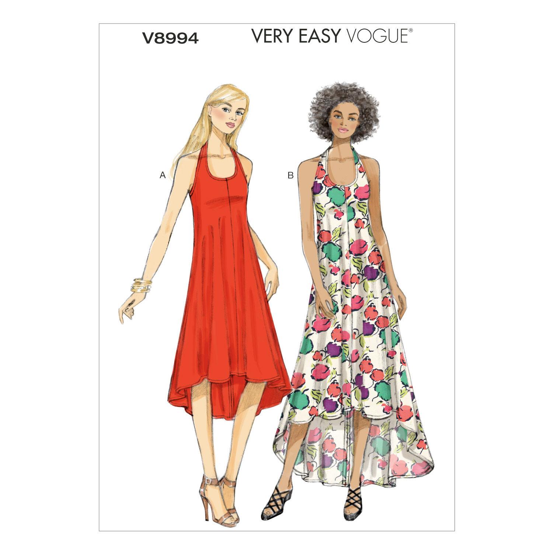 1960s – 70s Sewing Patterns- Dresses, Tops, Pants, Mens Vogue Patterns Misses Dress - V8994 $13.50 AT vintagedancer.com