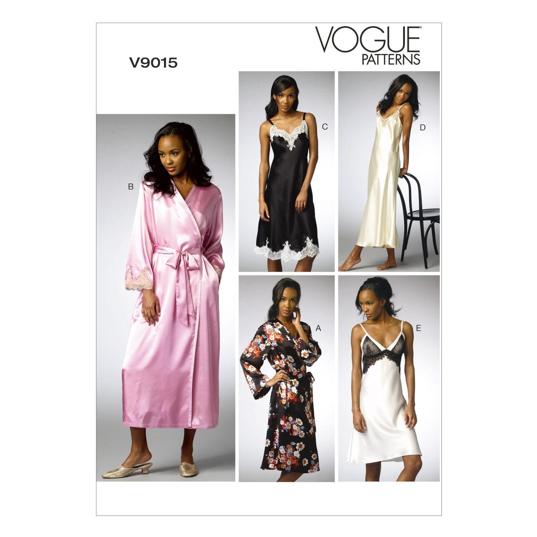 1960s – 70s Sewing Patterns- Dresses, Tops, Pants Vogue Patterns Misses Sleep  Lounge - V9015 $27.50 AT vintagedancer.com