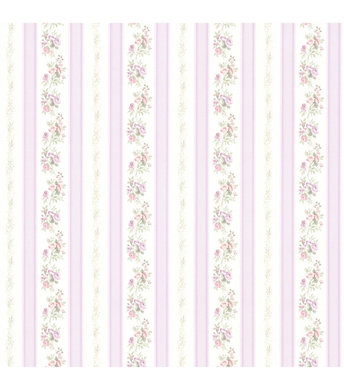 Victorian Sewing Patterns- Dress, Blouse, Hat, Coat, Mens Princess Lavender Floral Stripe Wallpaper Sample $2.99 AT vintagedancer.com