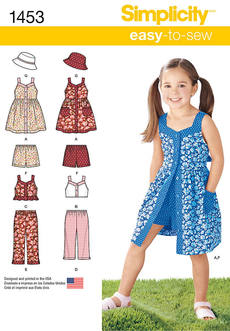 Kids 1950s Clothing & Costumes: Girls, Boys, Toddlers Simplicity Pattern 1453A 3 - 4 - 5 - 6 - 7 - - Child Sportswear $15.95 AT vintagedancer.com