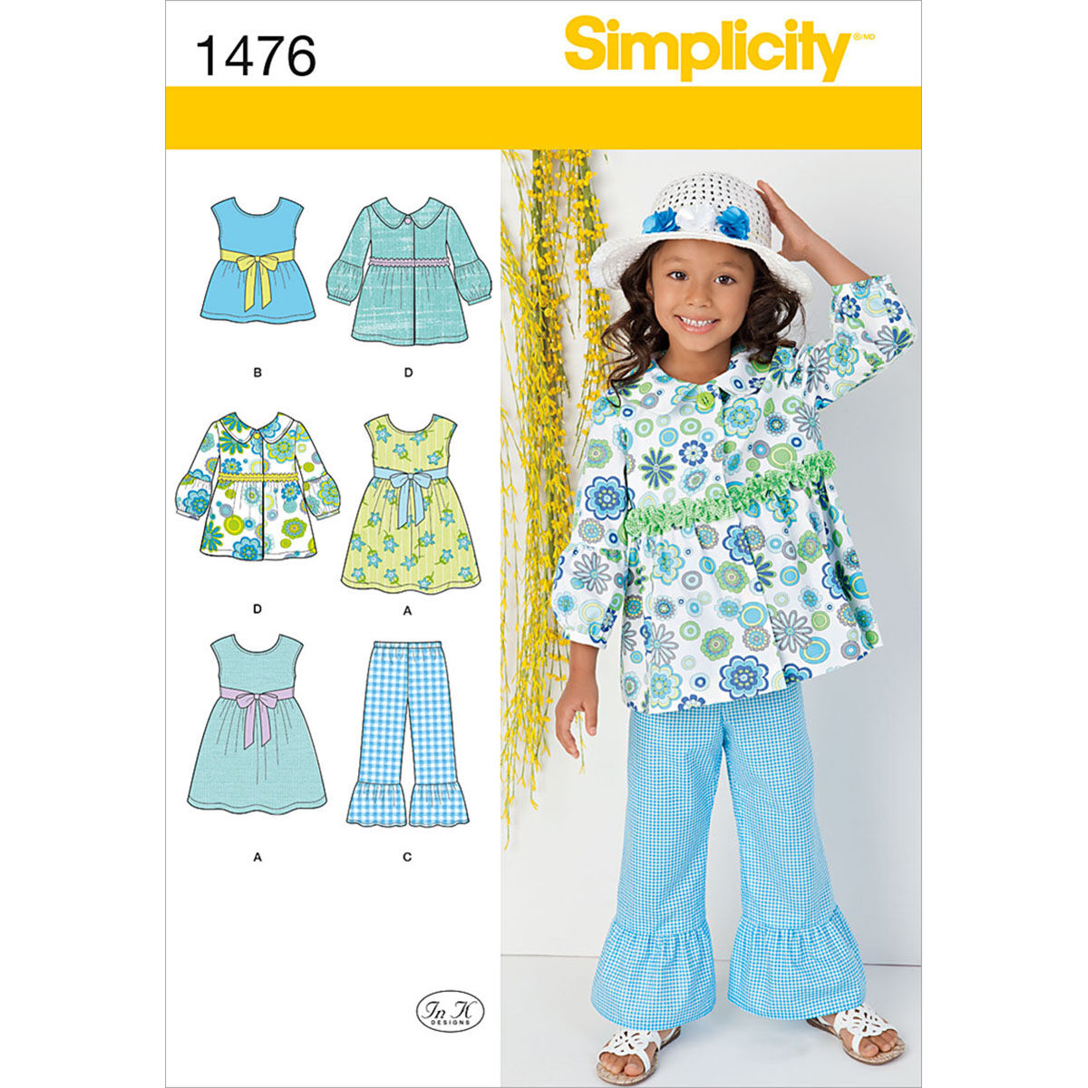 60s 70s Kids Costumes & Clothing Girls & Boys Simplicity Pattern 1476A 3 - 4 - 5 - 6 - 7 - - Child Sportswear $15.95 AT vintagedancer.com