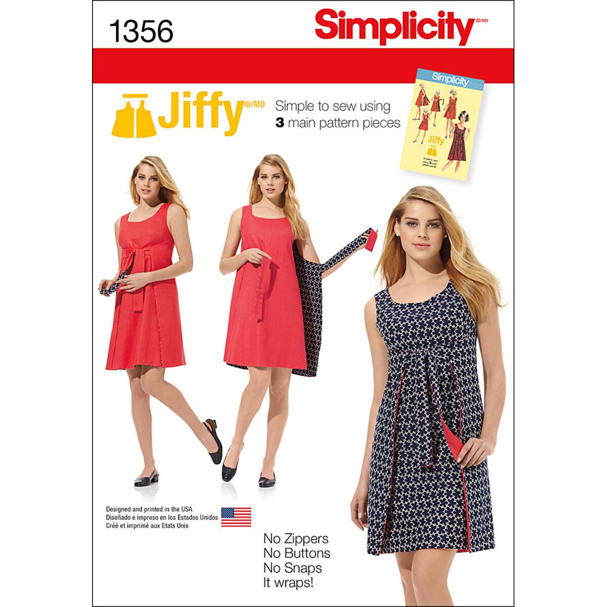 1960s – 70s Sewing Patterns- Dresses, Tops, Pants, Men's Simplicity Pattern 1356H5 6 - 8 - 10 - 12 - - Misses Dresses $12.56 AT vintagedancer.com