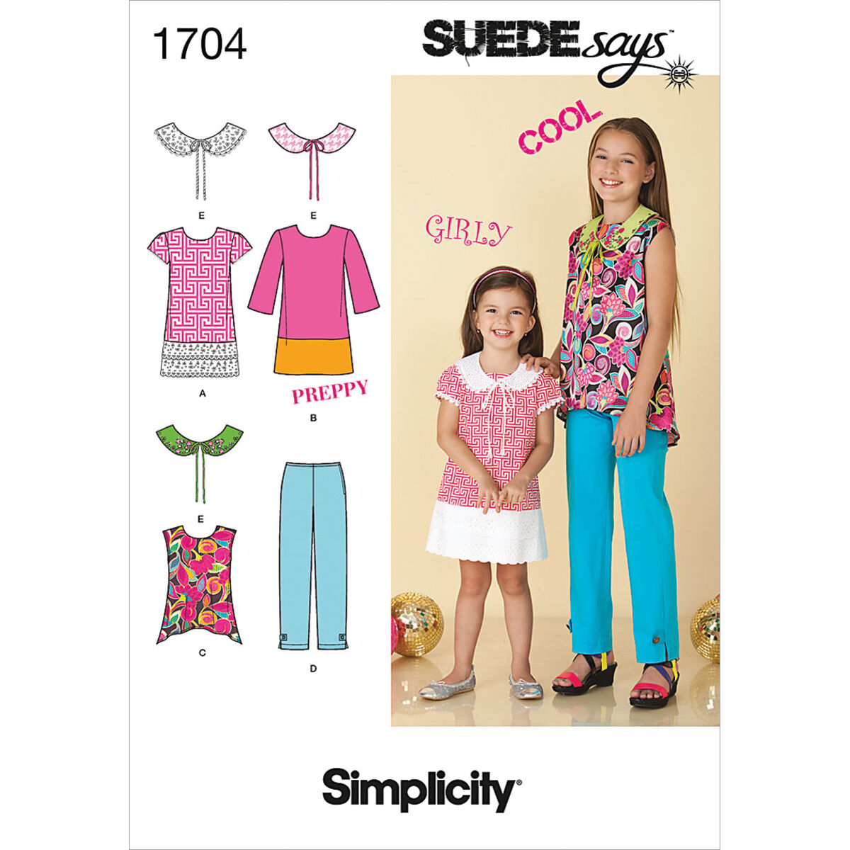 60s 70s Kids Costumes & Clothing Girls & Boys Simplicity Pattern 1704K5 7 - 8 - 10 - 12 - - Child Girl Sportswea $15.95 AT vintagedancer.com