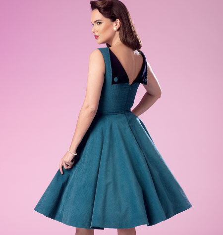 1950s Sewing Patterns | Swing and Wiggle Dresses, Skirts Butterick Misses Dress - B6094 $19.95 AT vintagedancer.com