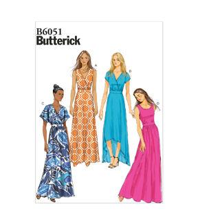 1960s – 70s Sewing Patterns- Dresses, Tops, Pants, Mens 1970 Butterick Misses Dress - B6051 $13.26 AT vintagedancer.com