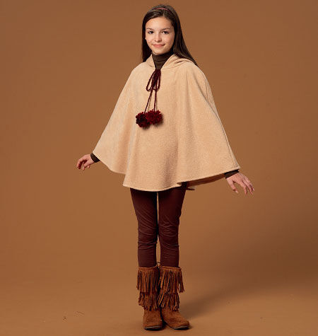 60s 70s Kids Costumes & Clothing Girls & Boys McCalls Girls Outerwear - M7012 $10.77 AT vintagedancer.com