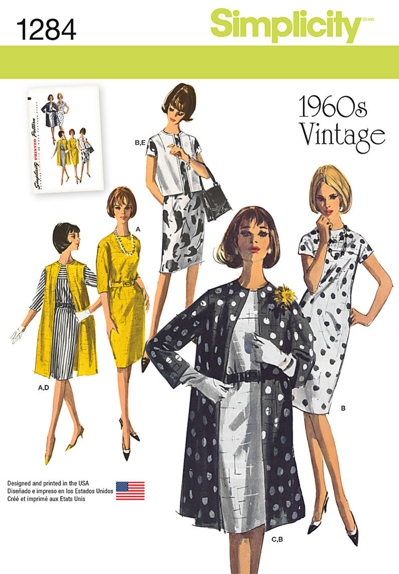 1960s – 70s Sewing Patterns- Dresses, Tops, Pants Simplicity Pattern 1284H5 6 - 8 - 10 - 12 - - Misses Sportswear $18.95 AT vintagedancer.com