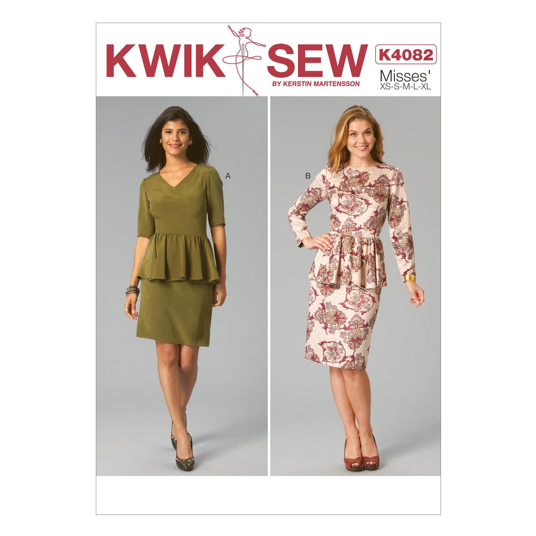 1930s Vintage Dresses, Clothing & Patterns Links Kwik Sew Misses Dress - K4082 $7.19 AT vintagedancer.com