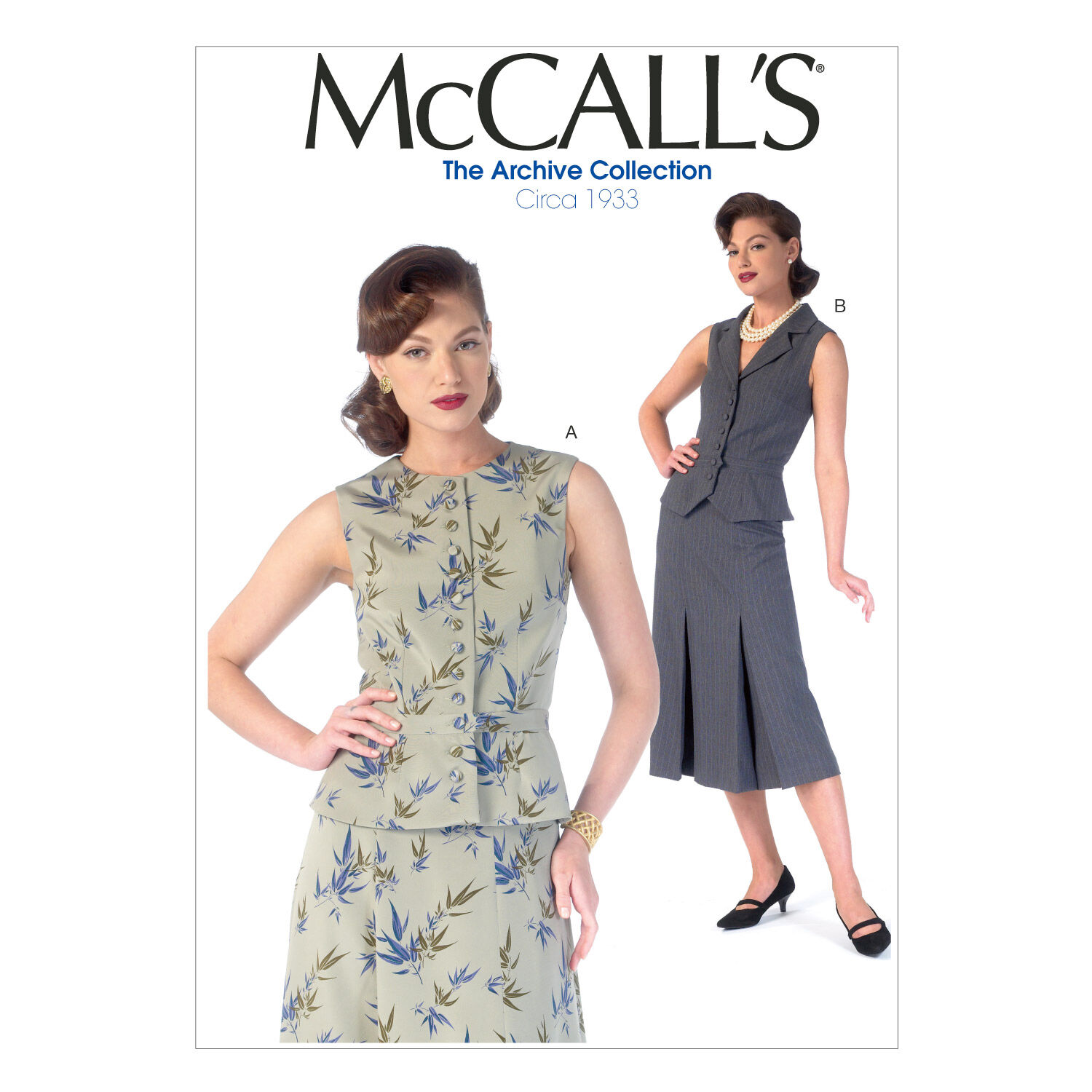 1930s Vintage Dresses, Clothing & Patterns Links Mccall Pattern M7056 14 - 16 - 18 - 2 - Mccall Pattern $18.95 AT vintagedancer.com