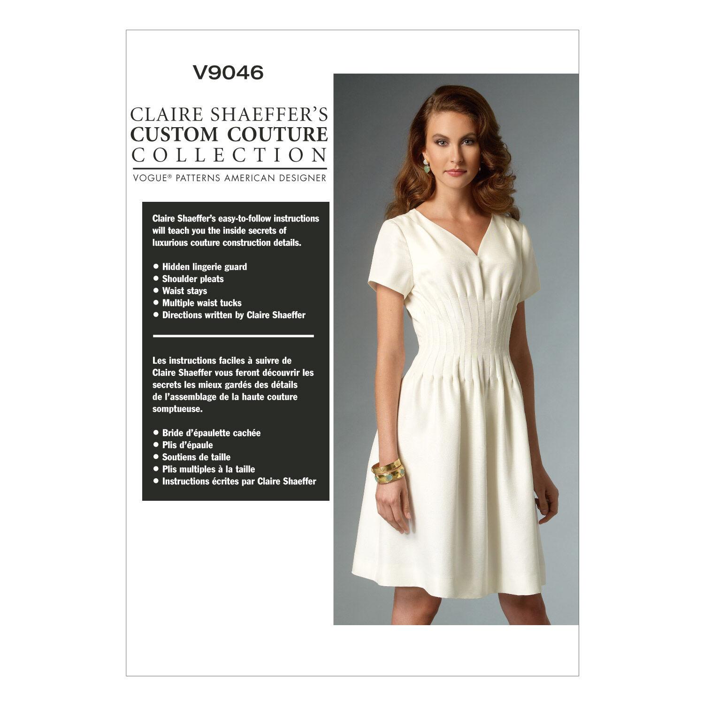 1940s Sewing Patterns – Dresses, Overalls, Lingerie etc Vogue Patterns Misses Dress - V9046 $30.00 AT vintagedancer.com