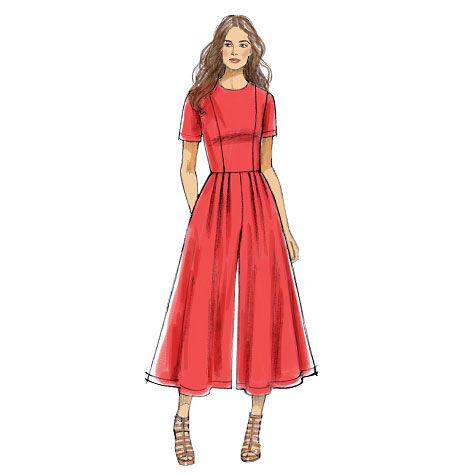 1960s – 70s Sewing Patterns- Dresses, Tops, Pants Vogue Patterns Misses Dress - V9075 $22.50 AT vintagedancer.com