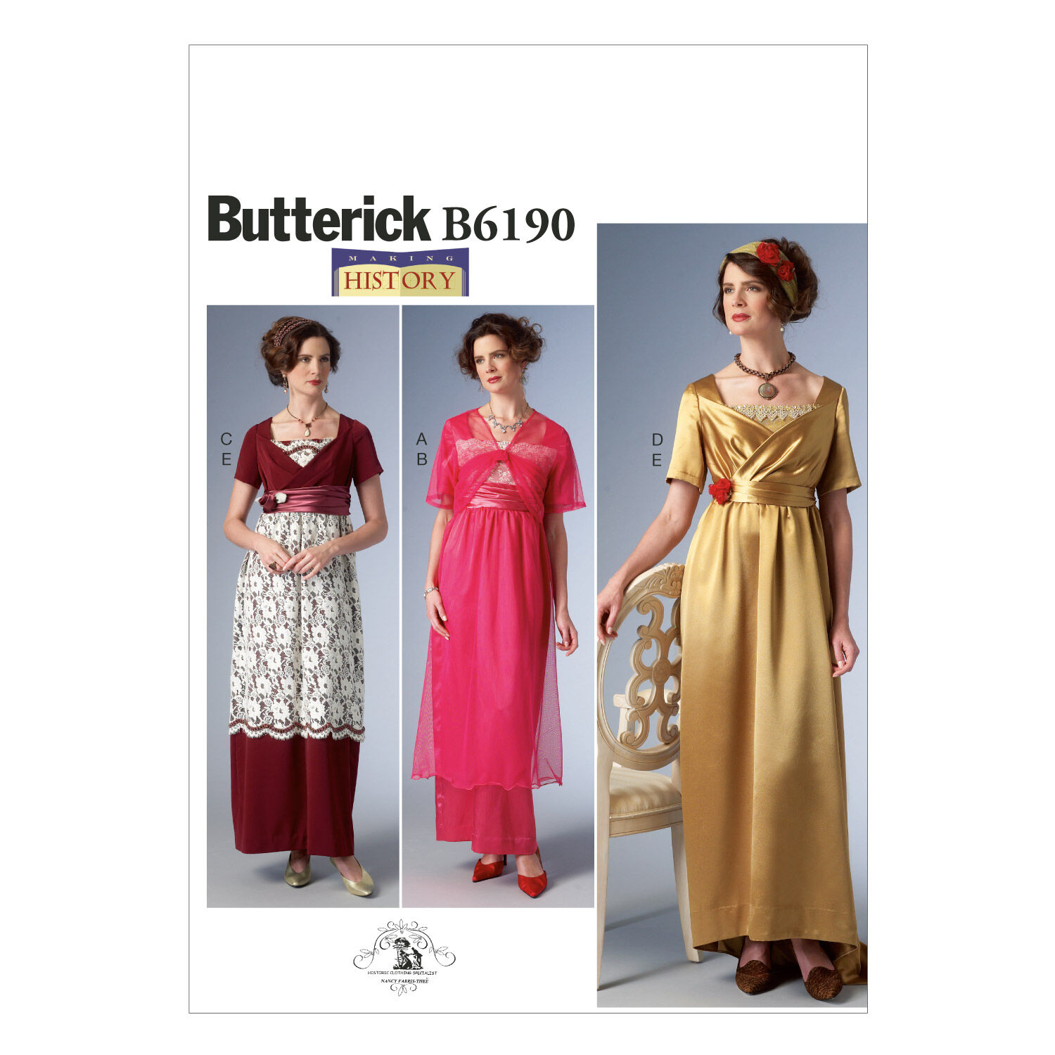 Titanic Clothing, Fashion, Outfit Ideas Butterick - Pattern B6190 - Empire - Waist Dress Jacket and Headbands - Sizes 6-8-10-12-14 - Patterns - At JOANN Fabrics  Crafts $13.96 AT vintagedancer.com